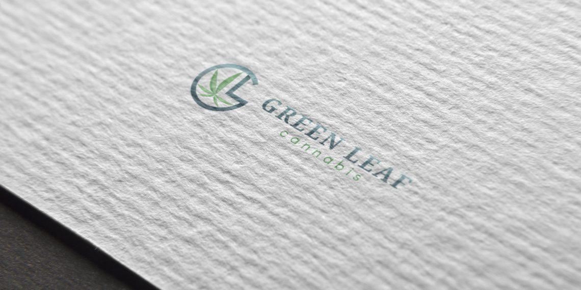 Green Leaf Cannabis Logo Design Draft 1.2 - Mockup