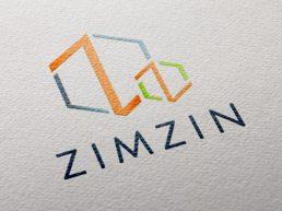 Zimzin Logo Design Mockup